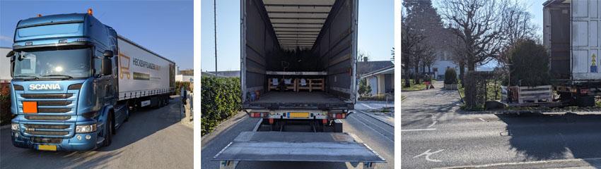 Transport von Paletten